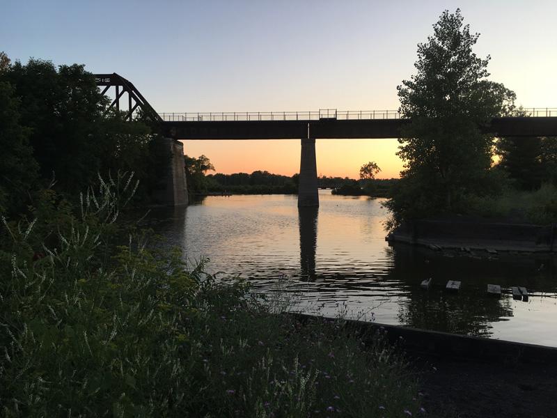 Black Bridge in Waterford Ontario