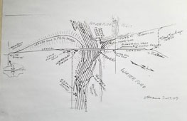 Map of historic Waterford rail lines