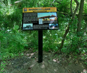 Interpretive sign along Waterford Heritage Trail